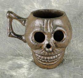 Antique Iron Skull Decoration