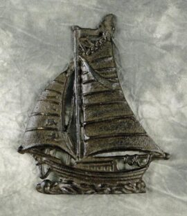 Antique Sailboat Paperweight