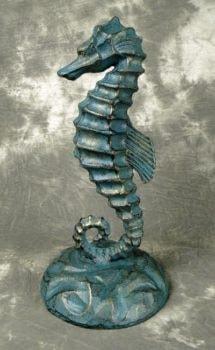 Verdigris Seahorse Figurine