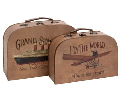 Set of 2 Cases With Travel Theme