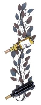 Wall Wine Rack with Leaves