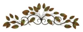 Leaves on Scroll Wall Decor