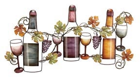 Metal Wine Wall Scene