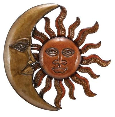Wall Hanging Moon and Sun