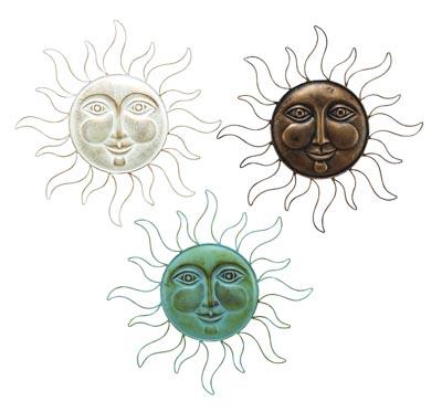 Assorted Metal Sun Face