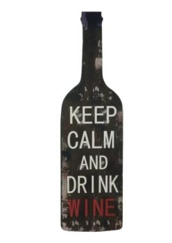 Weathered Wine Bottle Sign