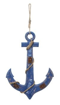 Anchor with Rope Wall Decor