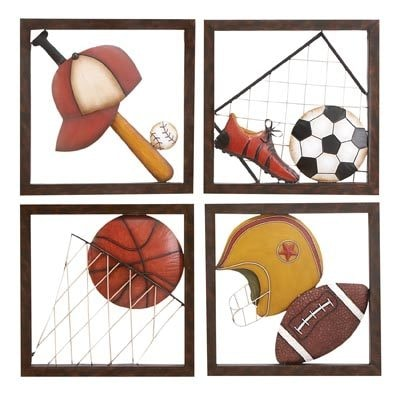 Assorted Metal Sports Wall Plaques