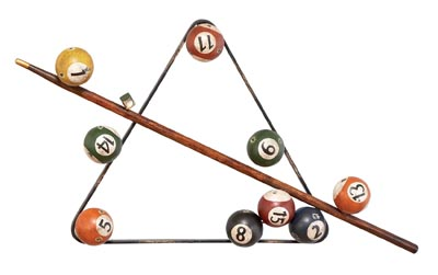 Metal Billiard Wall Art