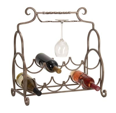 Rack for Wine Bottles and Glasses