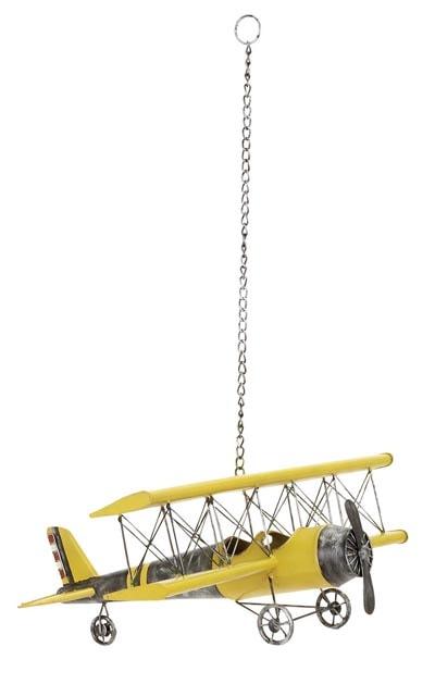 Hanging bi wing airplane globe imports