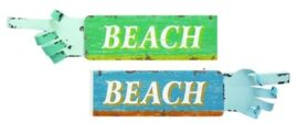 Assorted Arm Shaped Beach Sign