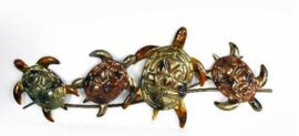 Metal Turtle Wall Decor