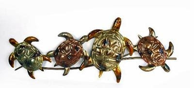 Metal Turtle Wall Decor