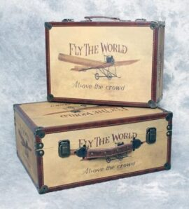 Set of 2 Airplane Storage Suitcases