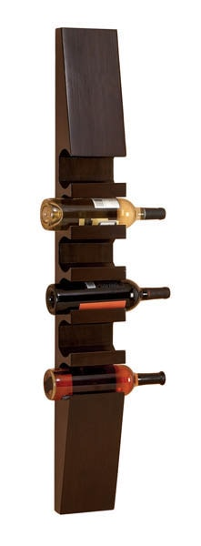 Wood Wall Wine Bottle Hanger