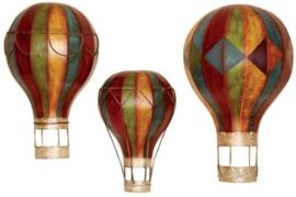 Set of 3 Metal Hot Air Balloons