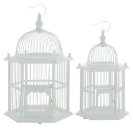 Set of 2 Victorian Style Bird Cages