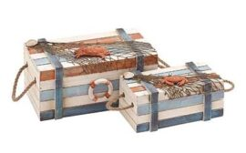 Set of 2 Rustic Nautical Crates