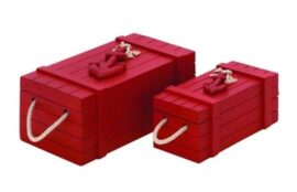 Set of 2 Red Nautical Crates