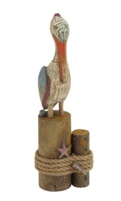 Rustic Pelican Figurine