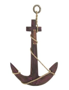 Wood and Rope Decorative Anchor