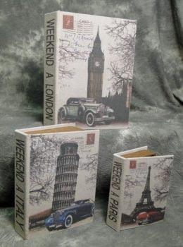 Set of 3 European Storage Books