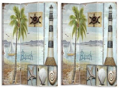 Lighthouse Beach Room Divider