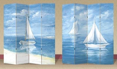 Sailboats Room Divider