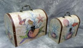 Set of Two Sea Life Chests
