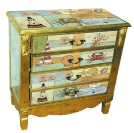 Four-Drawer Gilded Coastal Chest