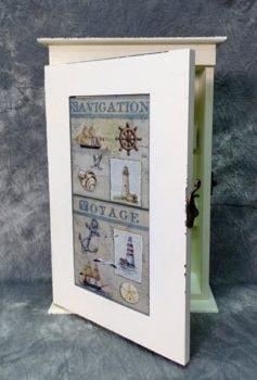 Wooden Nautical Key Box