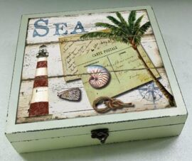 Wood & Glass Sea Box