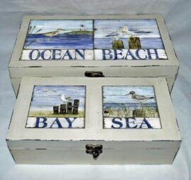 Set of Two Nautical Boxes