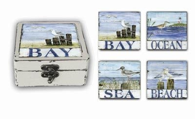 Set of 4 Boxed Nautical Coasters