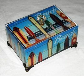 Wood and Glass Surfs Up Box