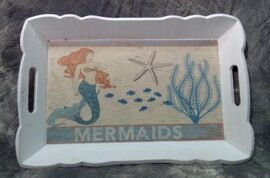 Wooden Mermaid Tray