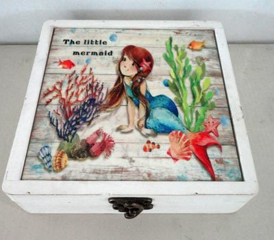 Wooden Mermaid Box