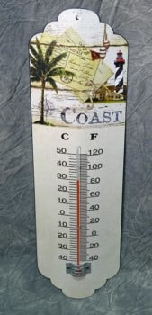 Metal Wall Coast Thermometer
