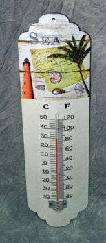 Metal Wall Sea Thermometer