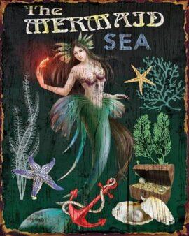 Metal Picture Vintage Mermaid