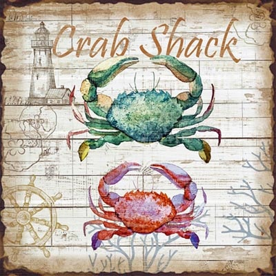 Metal Picture Crab Shack