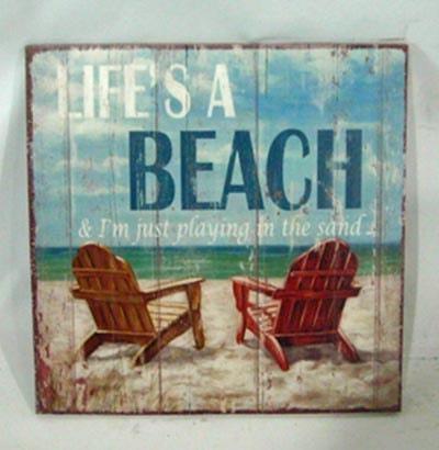 Life S A Beach Sign Globe Imports