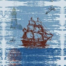 Canvas Rustic Ship Print