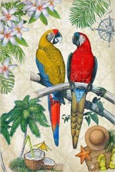 Canvas Parrots Print