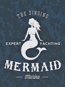 Metal Singing Mermaid Sign