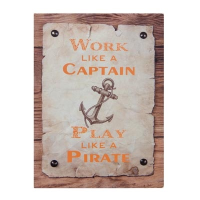 Metal Captain and Pirate Sign