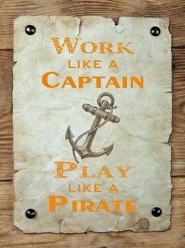 Metal Captain/Pirate Sign