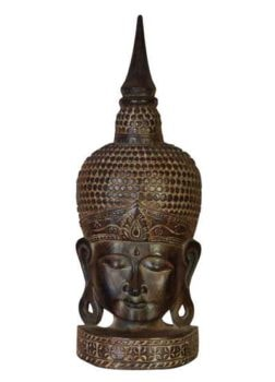 Wooden Enlightened Buddha Head