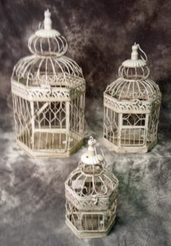 Set of 3 Decorative Bird Cages